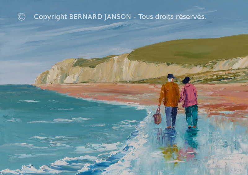La mer tableaux au couteau par bernard janson artiste for Peinture avec du sable