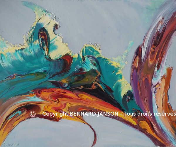 Oeuvres de peintures abstraites artiste peintre contemporain - Peinture contemporaine au couteau ...