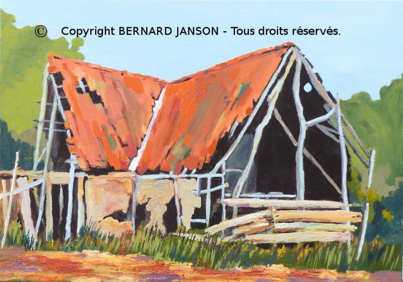 Tableaux la campagne en paysages contemporains peinture for Peinture acrylique maison