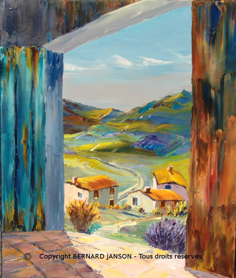 Tableaux peintures de paysages et sc nes de vie de la montagne for Peinture a tableau exterieur