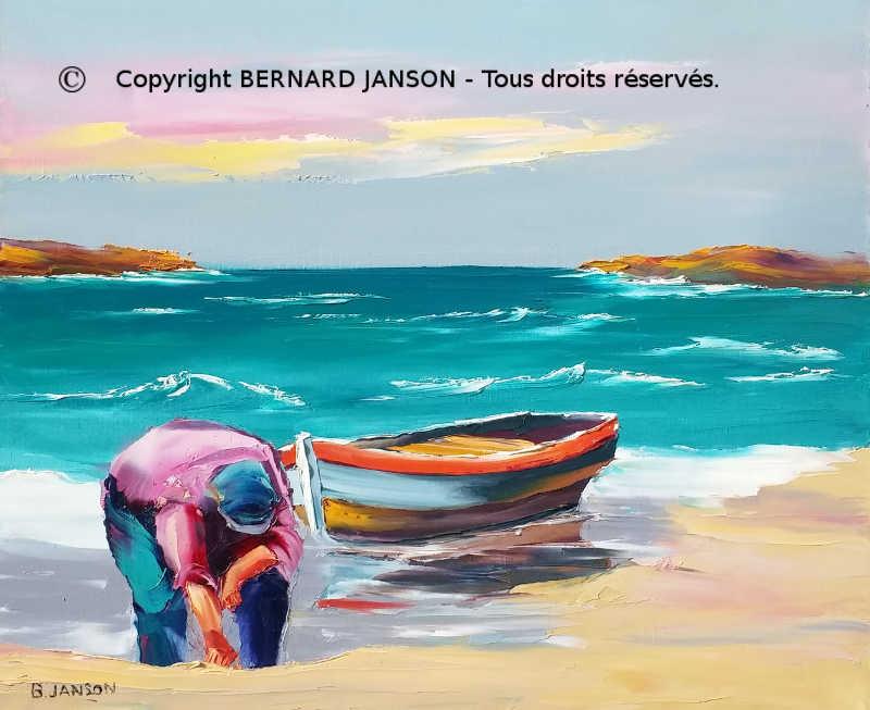 La Mer Tableaux Au Couteau Par Bernard Janson Artiste