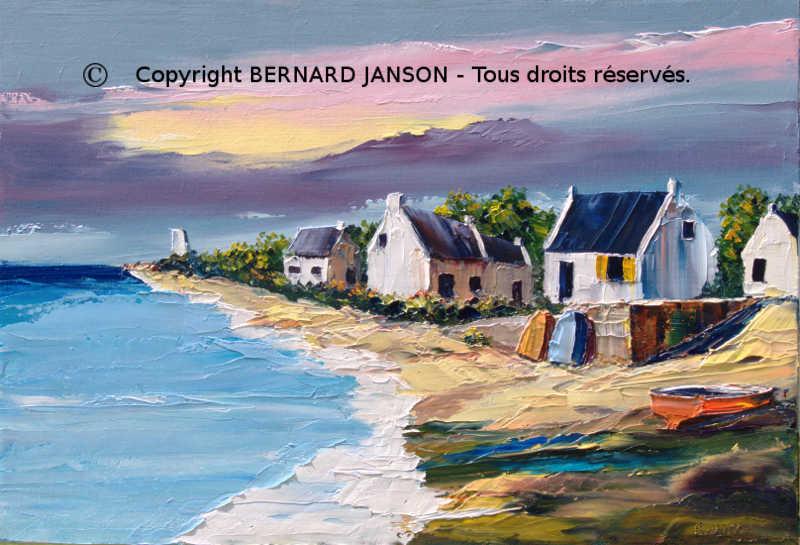Plus adapté tableaux peintures paysages typiques et scènes de vie de la Bretagne YW-57